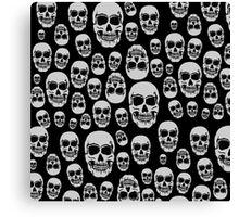 Wall Of Skulls Canvas Print