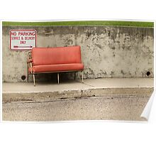 Old Red Chair Poster