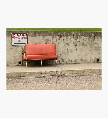 Old Red Chair Photographic Print