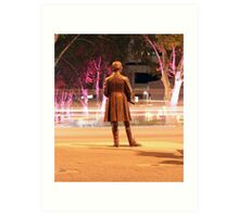 Watchful statue  Art Print