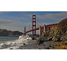Golden Gate Splash 2 Photographic Print