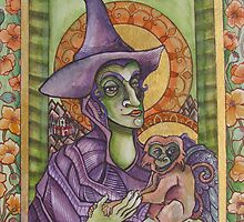 The Wicked Witch Illuminated Manuscript by MegJay