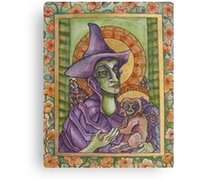 The Wicked Witch Illuminated Manuscript Canvas Print