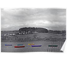 Lochwinnoch boats Poster