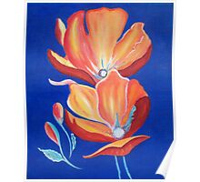 Poppies dancing in the sky Poster