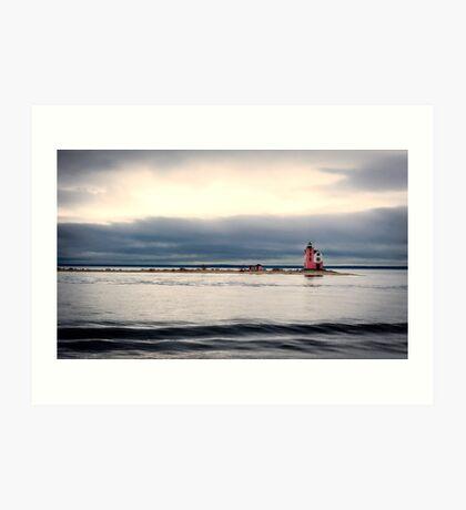 Mackinac Island Lighthouse Art Print