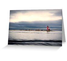 Mackinac Island Lighthouse Greeting Card