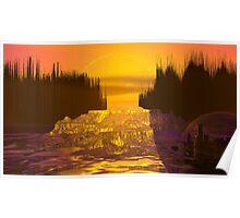 Gayla Moonbase Sunset Poster