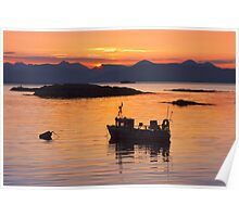 Isle of Skye. Sunset. North West Scotland. Poster