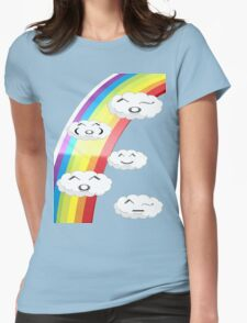 Happy Clouds Womens Fitted T-Shirt
