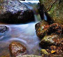 Vibrant Cascade - Near Echo Lake, CO by Zeibyasis