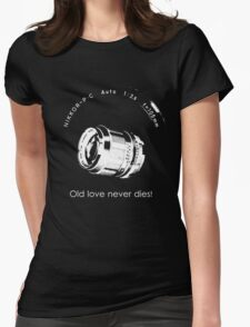 Nikkor 105mm White Old love never dies! Womens Fitted T-Shirt