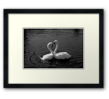 Love In The Neck Framed Print