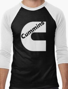CUMMINS WHITE Men's Baseball ¾ T-Shirt