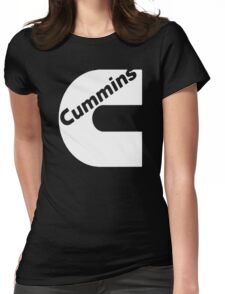 CUMMINS WHITE Womens Fitted T-Shirt