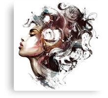 abstract art face Canvas Print