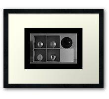 Spheres in Cubes #2 Framed Print