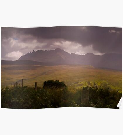 Storm over the Cuillins Poster