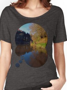 Romantic evening at the pond | waterscape photography Women's Relaxed Fit T-Shirt