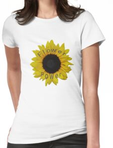 Flower Power Womens Fitted T-Shirt