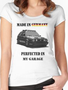 Made in Germany perfected in My Garage Women's Fitted Scoop T-Shirt