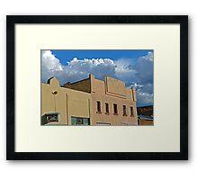 Plaza Building in Las Vegas, New Mexico 6 Framed Print