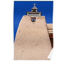 Adobe Church, Detail 4, Truchas, New Mexico Poster