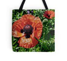 Orange Flower Power Tote Bag