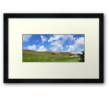 Mount Caburn Panorama Framed Print