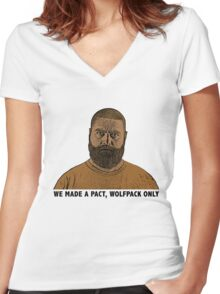The Hangover 2 movie funny Alan quote wolfpack  Women's Fitted V-Neck T-Shirt