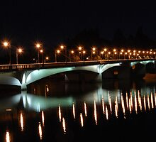 4th Avenue Bridge at Night, Olympia Washington by nwexposure