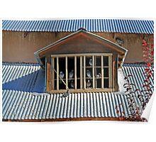 Birds-in-Dormer 2, Santuario de Chimayo, NewMexico Poster