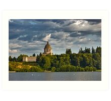 State Capitol Dome, Olympia, Washington State Art Print