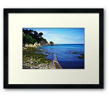 Lee bay in devon Framed Print