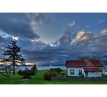 Brown's Point & Lighthouse, near Tacoma Washington Photographic Print