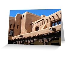 Adobe Building, Detail 3, Santa Fe, New Mexico Greeting Card