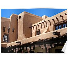 Adobe Building, Detail 3, Santa Fe, New Mexico Poster