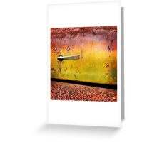 Rust art 4 Greeting Card