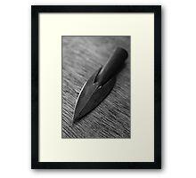 Monochrome Type 16 Arrowhead Framed Print