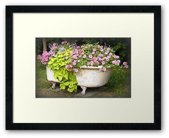 Flower Garden in a Bathtub by WeeZie