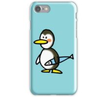 Funny penguin & fish iPhone Case/Skin