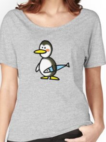 Funny penguin & fish Women's Relaxed Fit T-Shirt