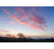 Sunrise over County Kilkenny, Ireland Photographic Print