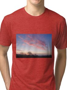 Sunrise over County Kilkenny, Ireland Tri-blend T-Shirt