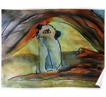 Africa's Pairrie dog, watercolor Poster
