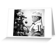 At Christmas in Black and White Greeting Card