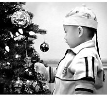 At Christmas in Black and White Photographic Print