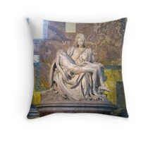 Pieta, Michelangelo, St. Peter's Basillica, Vatican City State Throw Pillow