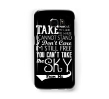 Firefly Theme song quote (white version) Samsung Galaxy Case/Skin