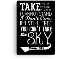 Firefly Theme song quote (white version) Canvas Print